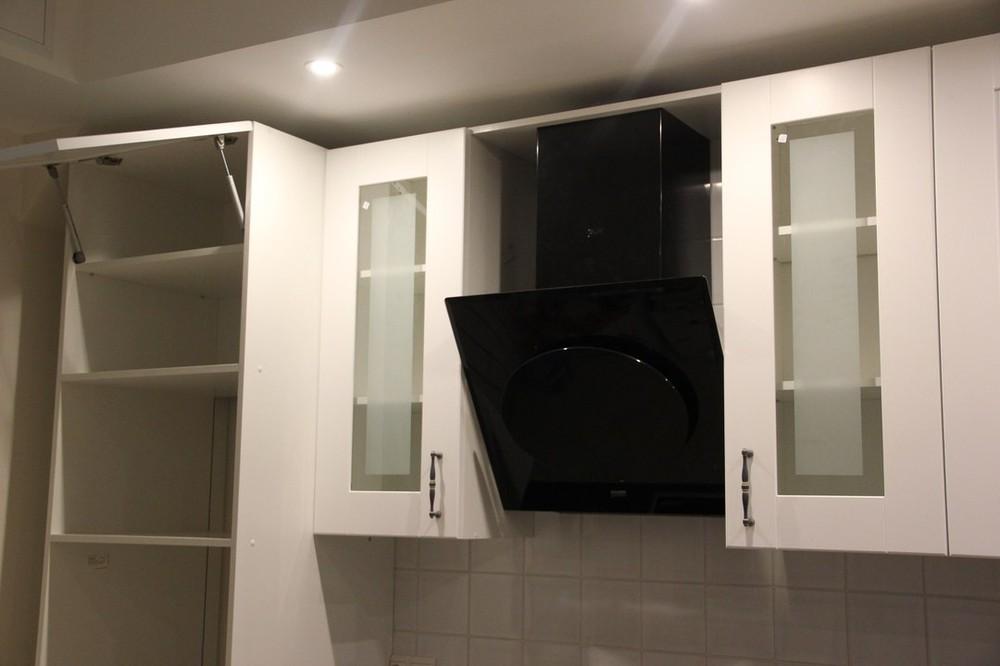 Белый кухонный гарнитур-Кухня из массива «Модель 175»-фото4