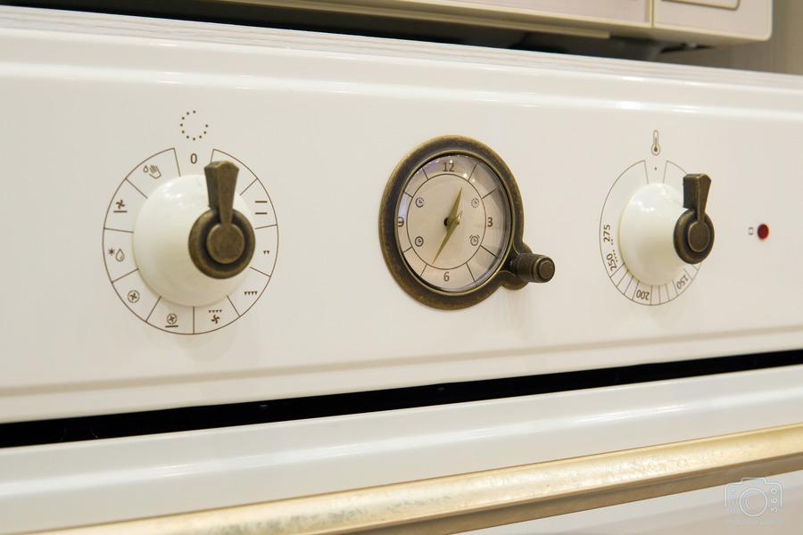 Белый кухонный гарнитур-Кухня из шпона «Модель 8»-фото9