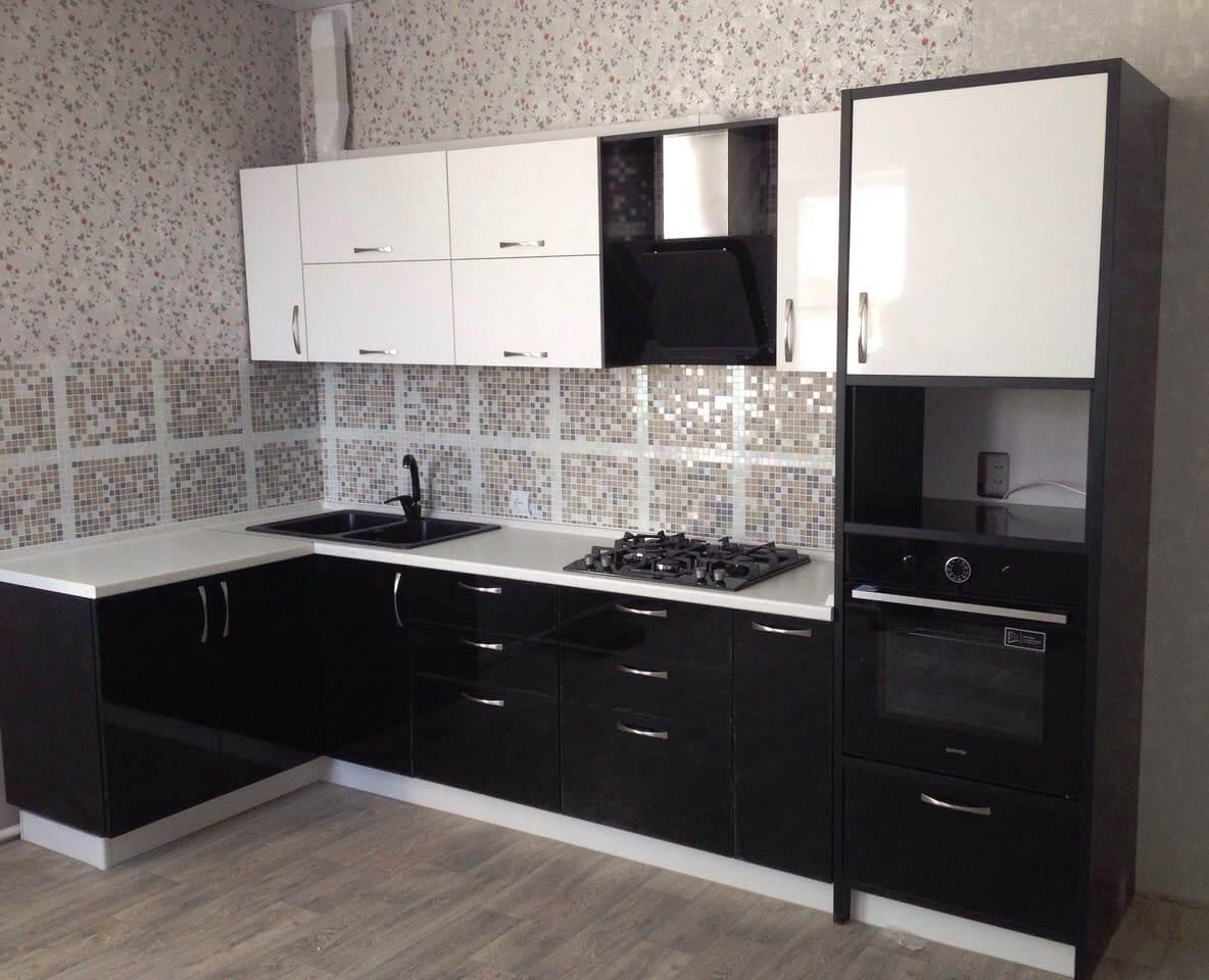 Белый кухонный гарнитур-Кухня МДФ в пластике «Модель 35»-фото1