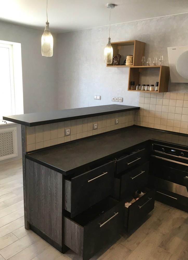 Встроенная кухня-Кухня МДФ в ПВХ «Модель 316»-фото9