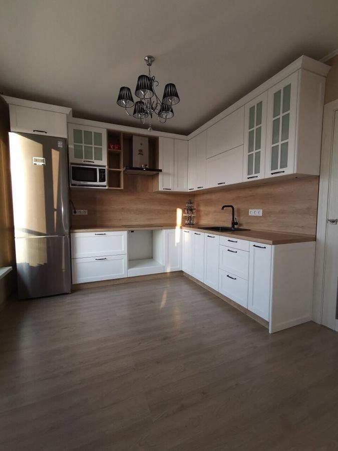Белый кухонный гарнитур-Кухня МДФ в эмали «Модель 95»-фото1