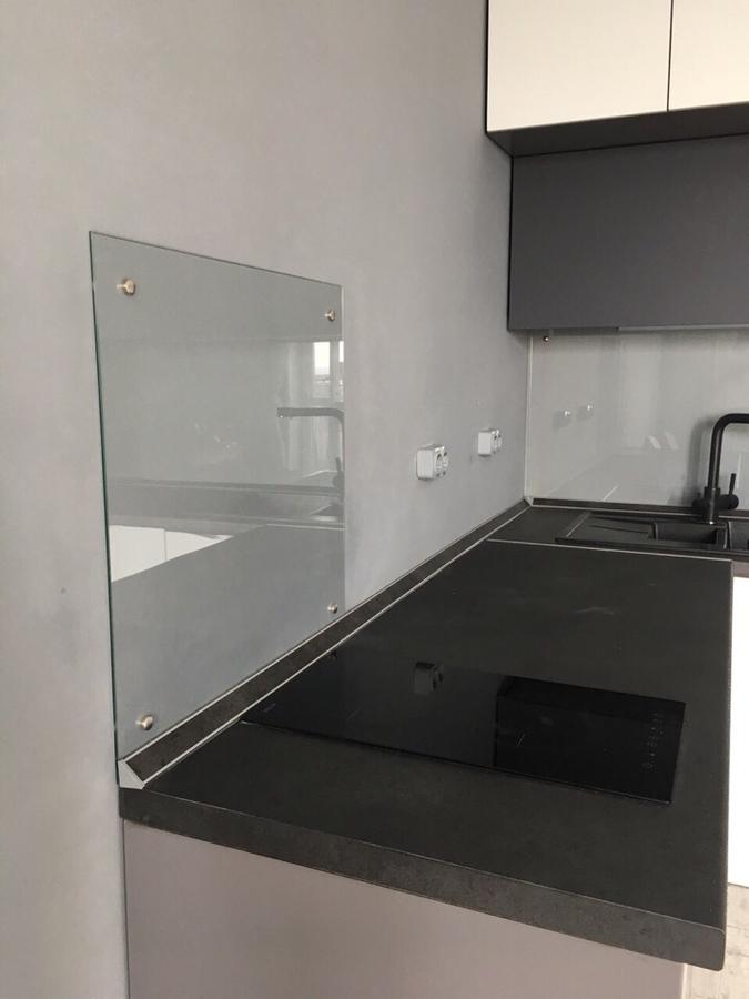 Белый кухонный гарнитур-Кухня из пластика «Модель 364»-фото4