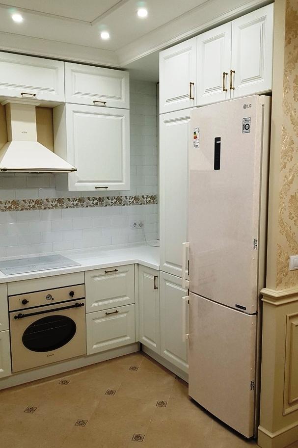 Белый кухонный гарнитур-Кухня МДФ в ПВХ «Модель 531»-фото4