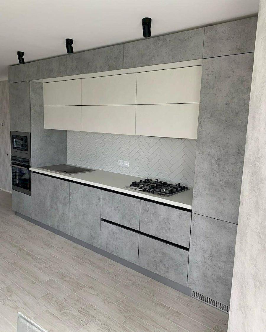 Белый кухонный гарнитур-Кухня МДФ в ПВХ «Модель 644»-фото2