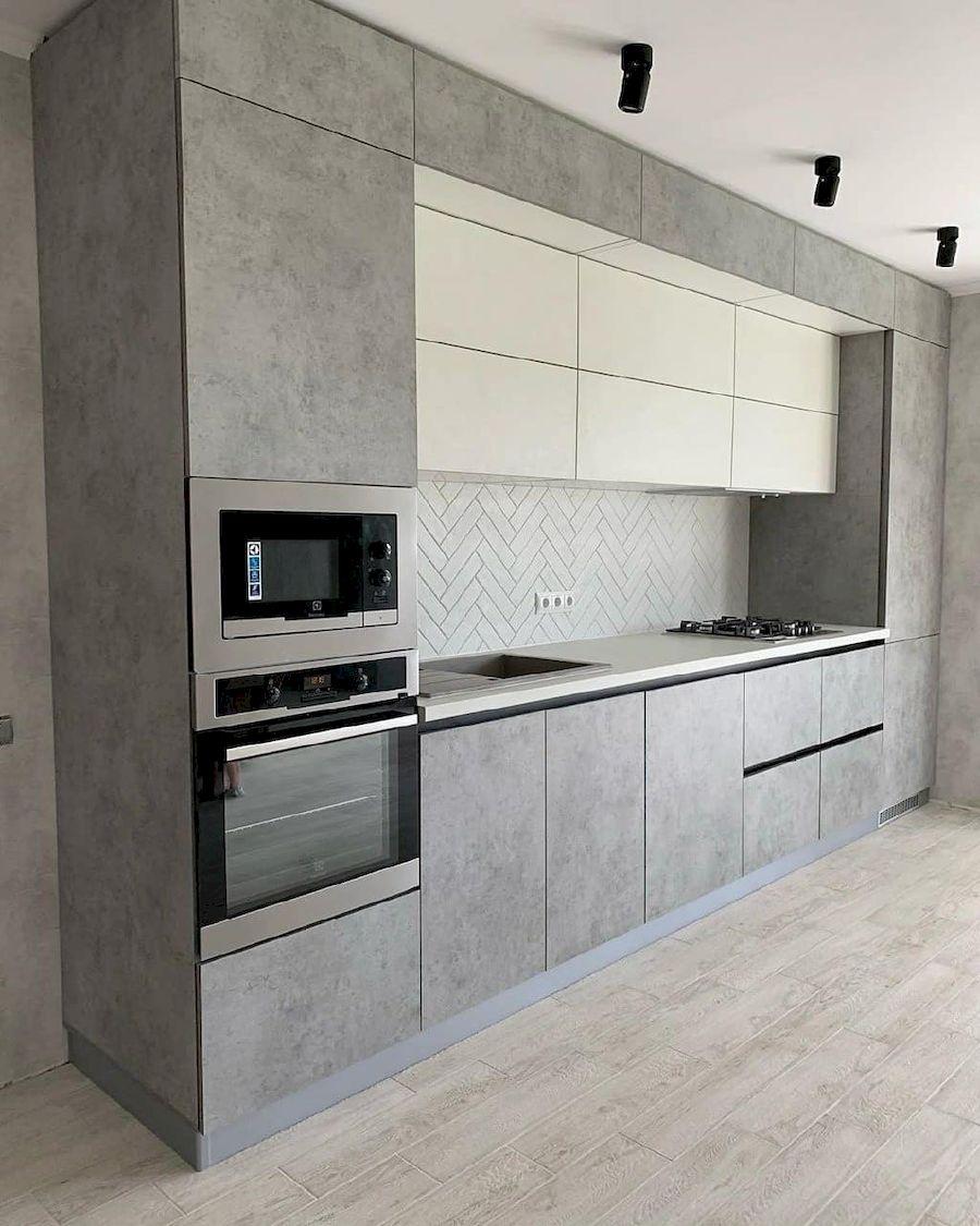 Белый кухонный гарнитур-Кухня МДФ в ПВХ «Модель 644»-фото1