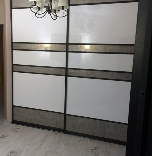 Белые шкафы-купе-Шкаф-купе из ЛДСП «Модель 371»-фото3