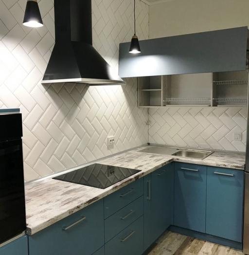 -Кухня из пластика «Модель 373»-фото2