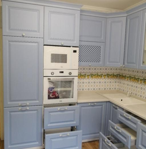 -Кухня МДФ в эмали «Модель 582»-фото18