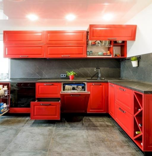 -Кухня МДФ в эмали «Модель 600»-фото7